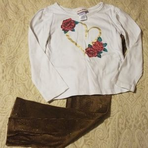 3 piece, long sleeve set with vest